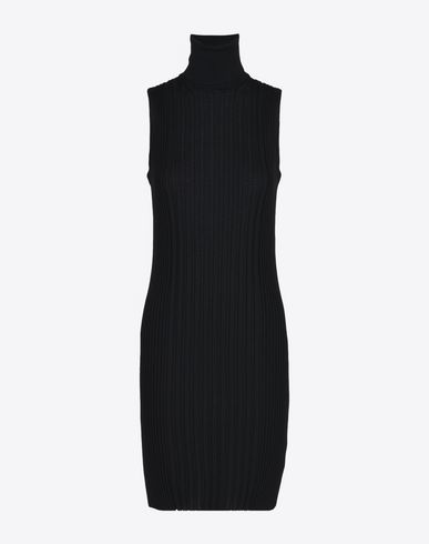 MAISON MARGIELA ミニワンピース・ドレス D ノースリーブ ウール リブ ニット ドレス f