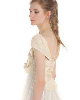 REDValentino Ruffle-detailed wrinkled taffeta dress