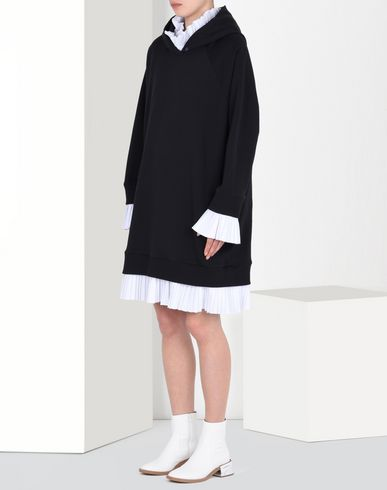 MM6 by MAISON MARGIELA Sweatshirt dress with pleated details Short dress D f