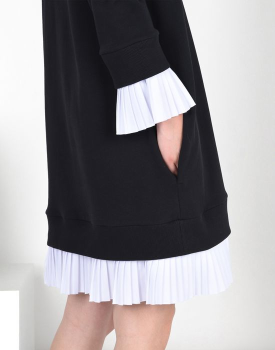 MM6 MAISON MARGIELA Sweatshirt dress with pleated details Short dress D a