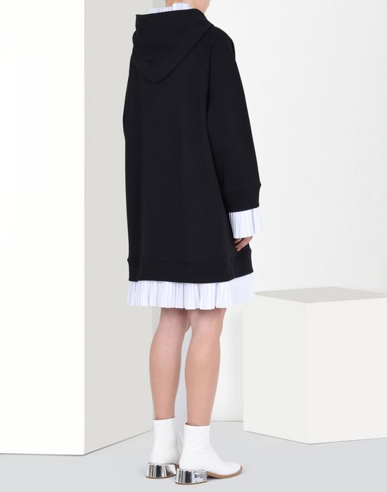 MM6 MAISON MARGIELA Sweatshirt dress with pleated details Short dress D d