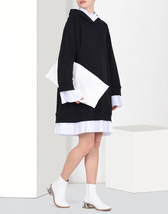 MM6 MAISON MARGIELA Sweatshirt dress with pleated details Short dress D r