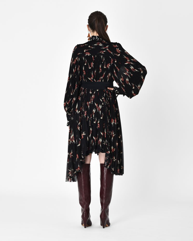 WESLEY floral print pleated midi dress  ISABEL MARANT