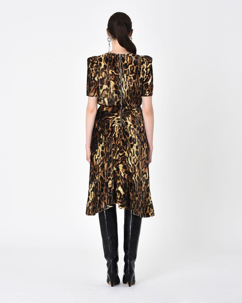 f1647cde4d26 ... ULIA leopard print velvet midi dress ISABEL MARANT ...