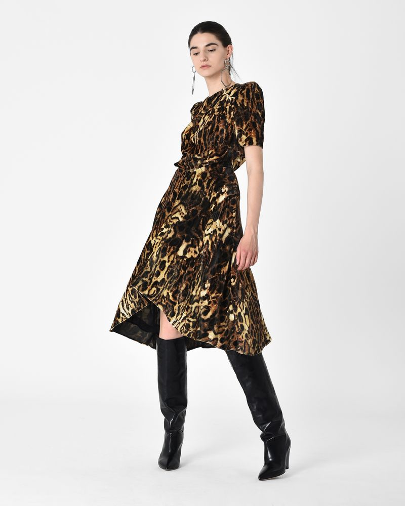 5094e724b0ef ... ULIA leopard print velvet midi dress ISABEL MARANT