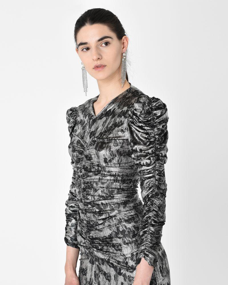 DAMIA midi dress in jersey, silk jacquard and lurex  ISABEL MARANT