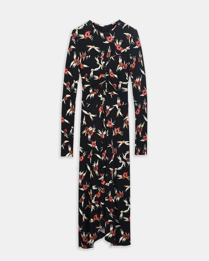 DIANA floral print jersey midi dress  ISABEL MARANT