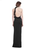 ALEXANDER WANG GOWN WITH ASYMMETRIC BALL CHAIN FLOUNCE 长款连衣裙 Adult 8_n_r