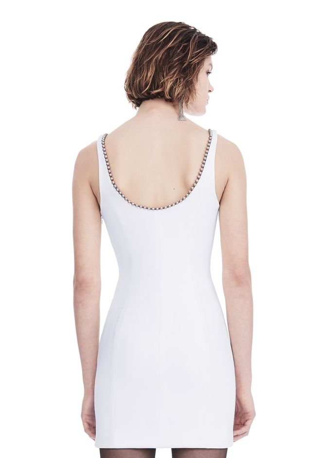 ALEXANDER WANG EXCLUSIVE SHEATH DRESS WITH BALL CHAIN NECKLINE 短款连衣裙 Adult 12_n_d