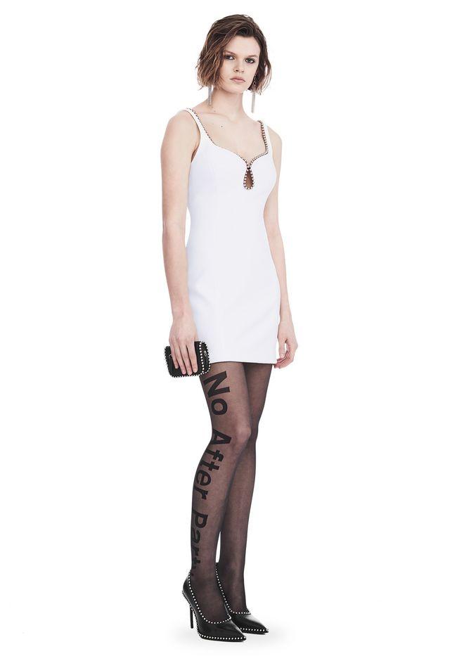 ALEXANDER WANG EXCLUSIVE SHEATH DRESS WITH BALL CHAIN NECKLINE 短款连衣裙 Adult 12_n_f