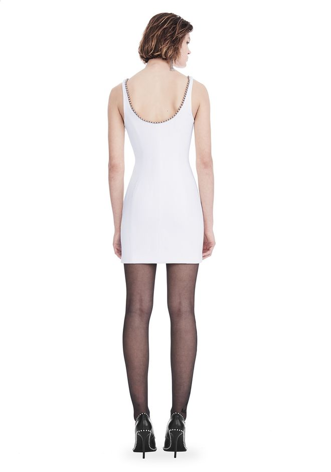 ALEXANDER WANG EXCLUSIVE SHEATH DRESS WITH BALL CHAIN NECKLINE 短款连衣裙 Adult 12_n_r