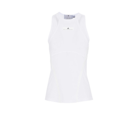 White Barricade Tank Top