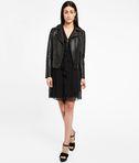 KARL LAGERFELD Zipper Detail Silk Ruffle Dress 8_d