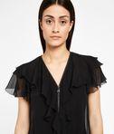 KARL LAGERFELD Zipper Detail Silk Ruffle Dress 8_e