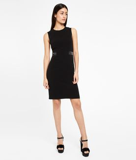 KARL LAGERFELD MATTE & SHINE DRESS W/ LACING