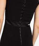 KARL LAGERFELD Matt & Shine Dress W/ Lacing 8_e