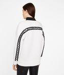 Patch Detail Zip Up Sweatshirt