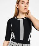 KARL LAGERFELD Black & White Rib Dress 8_e