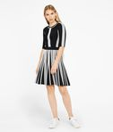 KARL LAGERFELD Black & White Rib Dress 8_f
