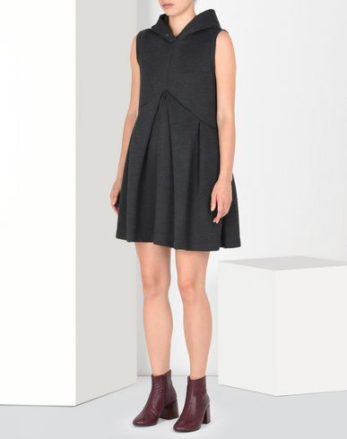 MM6 by MAISON MARGIELA Pleated A-line sweatshirt dress Short dress D f