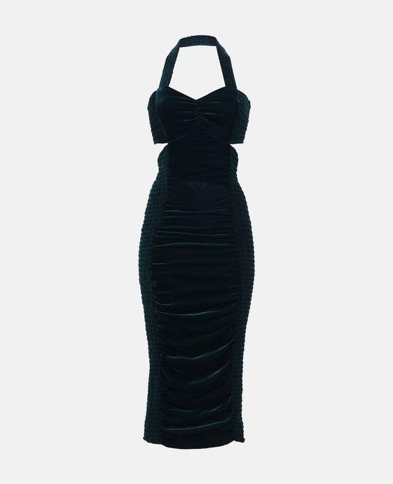 Olympia Velvet Blue Dress