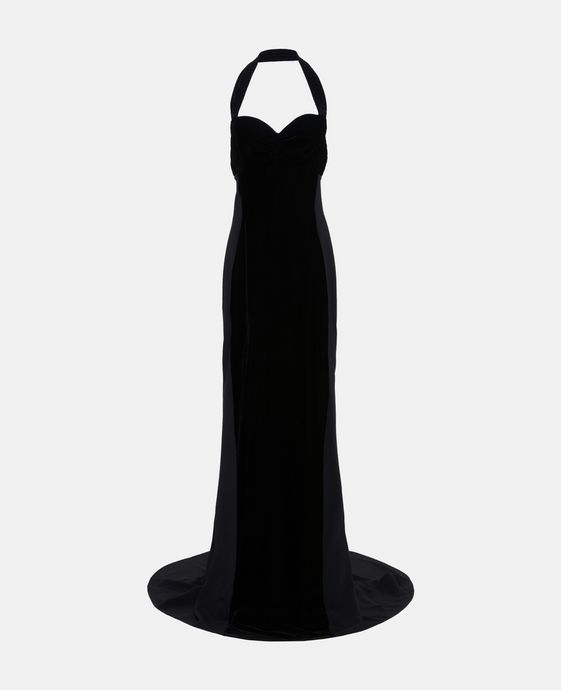 Pat Velvet Black Dress