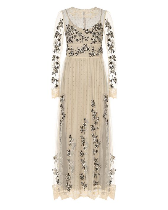7e2a66ed9d6 REDValentino Flower Embroidered Tulle Dress - Embroidered Dress ...