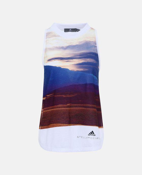 ADIDAS by STELLA McCARTNEY Print Essential Logo Top adidas Topwear D c