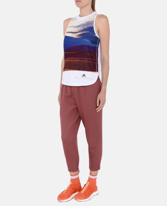 ADIDAS by STELLA McCARTNEY Print Essential Logo Top adidas Topwear D h
