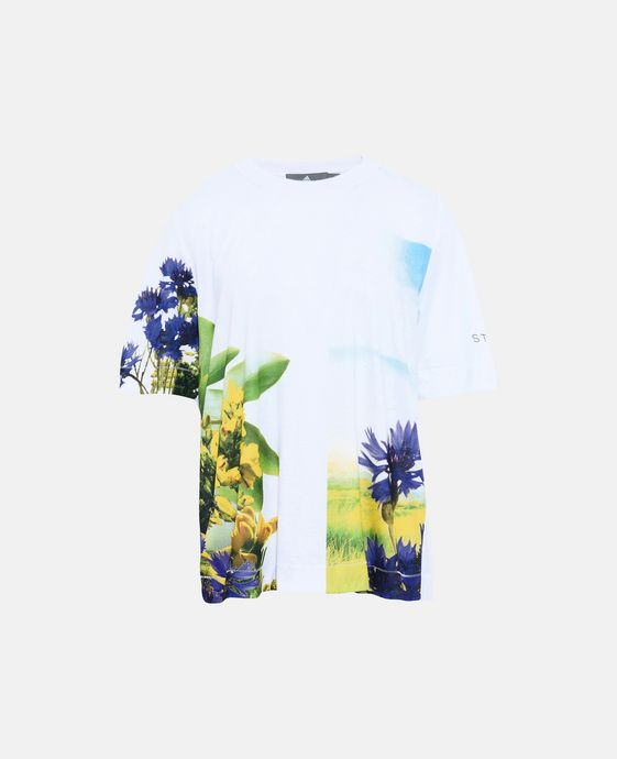 White Essential Print Top