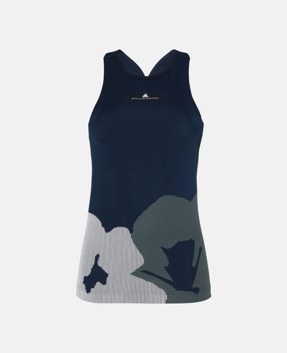 Blue Hot Yoga Tank
