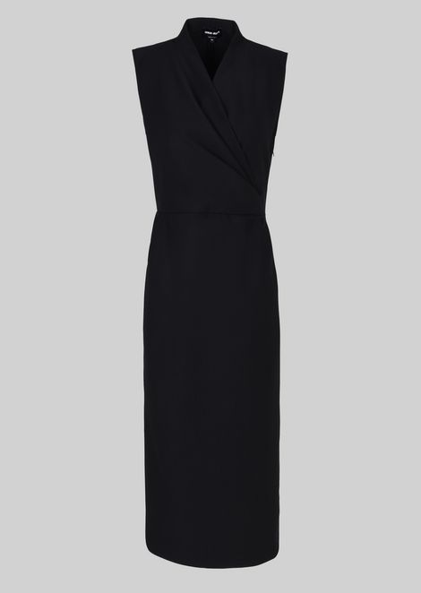SHEATH DRESS IN STRETCH WOOL JERSEY