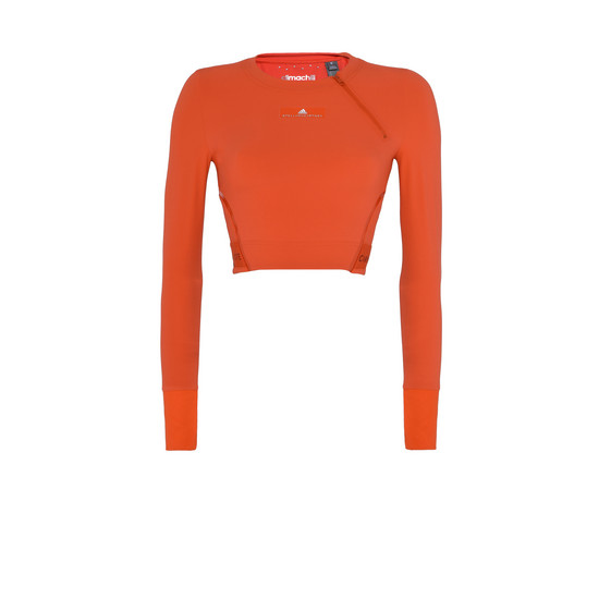 Red Cropped Training Top