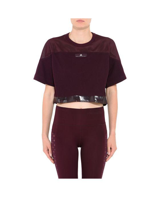 ADIDAS by STELLA McCARTNEY Red Essential Cropped Top adidas Topwear D i