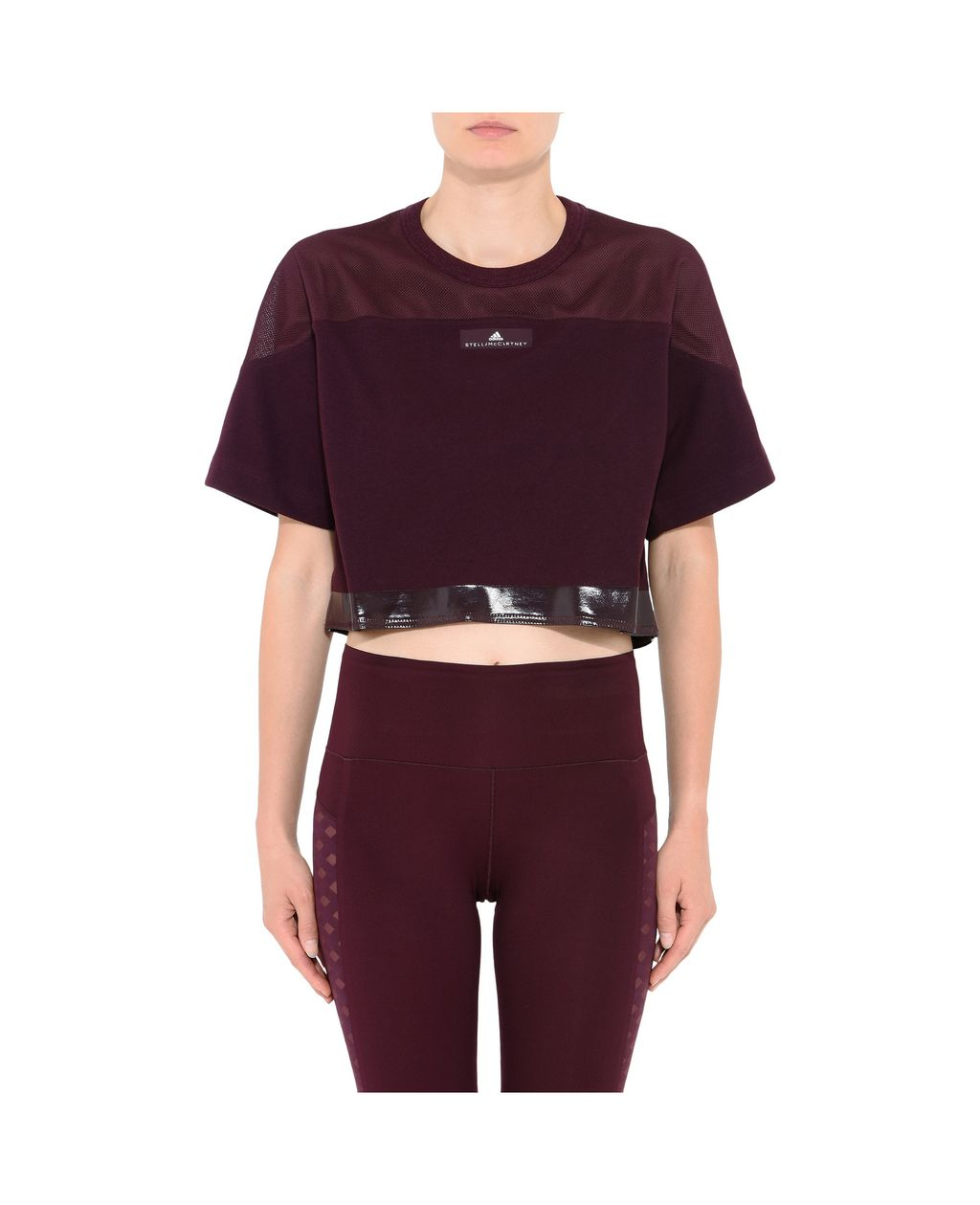 Red Essential Cropped Top - ADIDAS by STELLA McCARTNEY