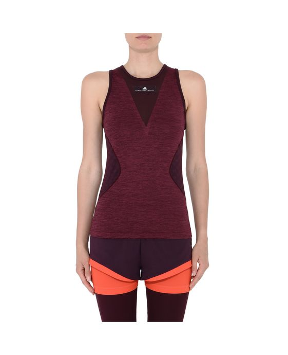 ADIDAS by STELLA McCARTNEY Red Training Tank adidas Topwear D i
