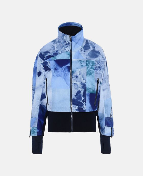 Blue Print Running Jacket