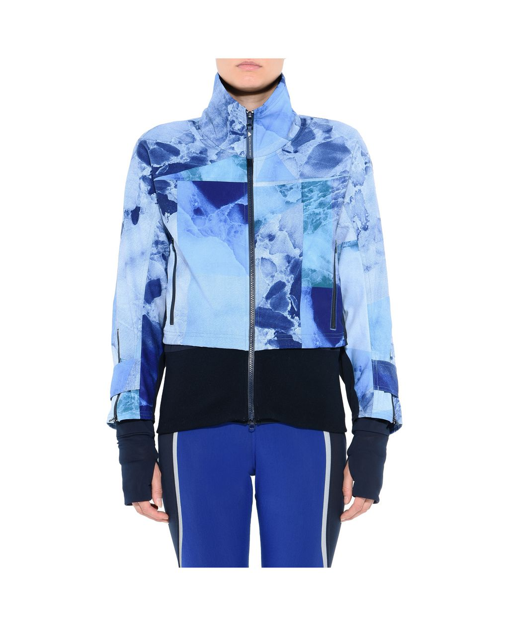 Blue Print Running Jacket - ADIDAS by STELLA McCARTNEY