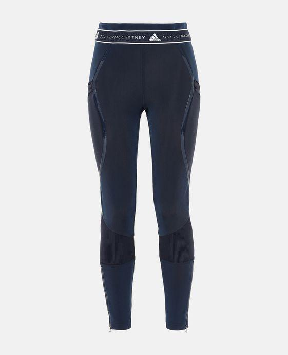 Collants de course bleus