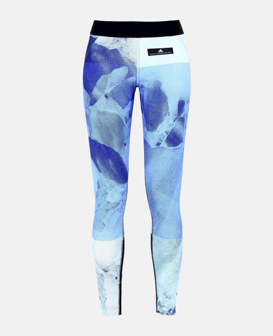 Collants de course imprimés bleus