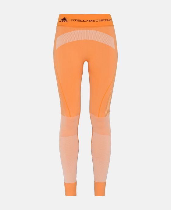 Orange Seamless Yoga Tights