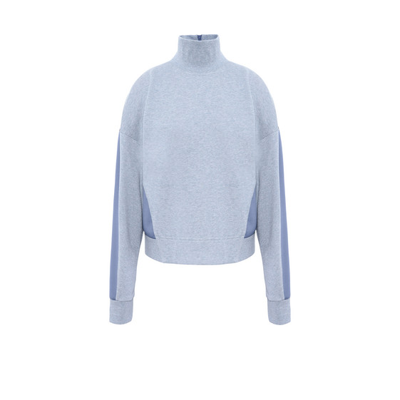 Blue Cotton Sweatshirt