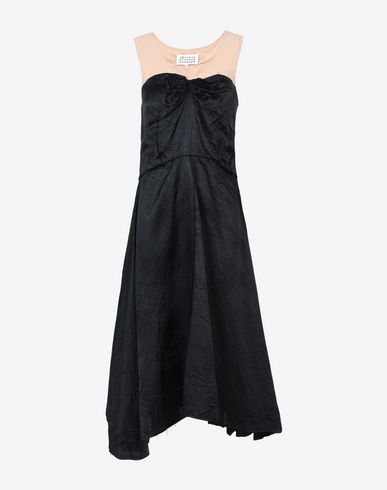 MAISON MARGIELA Asymmetric lining dress 3/4 length dress D f