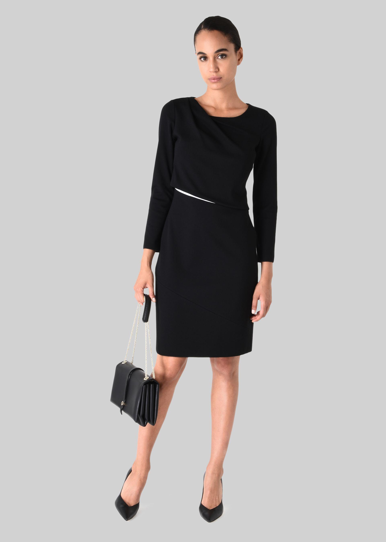 GIORGIO ARMANI STRETCH JERSEY PRINCESS DRESS Dress D f