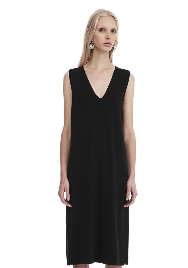 T by ALEXANDER WANG Short Dresses SLEEVELESS V-NECK DRESS