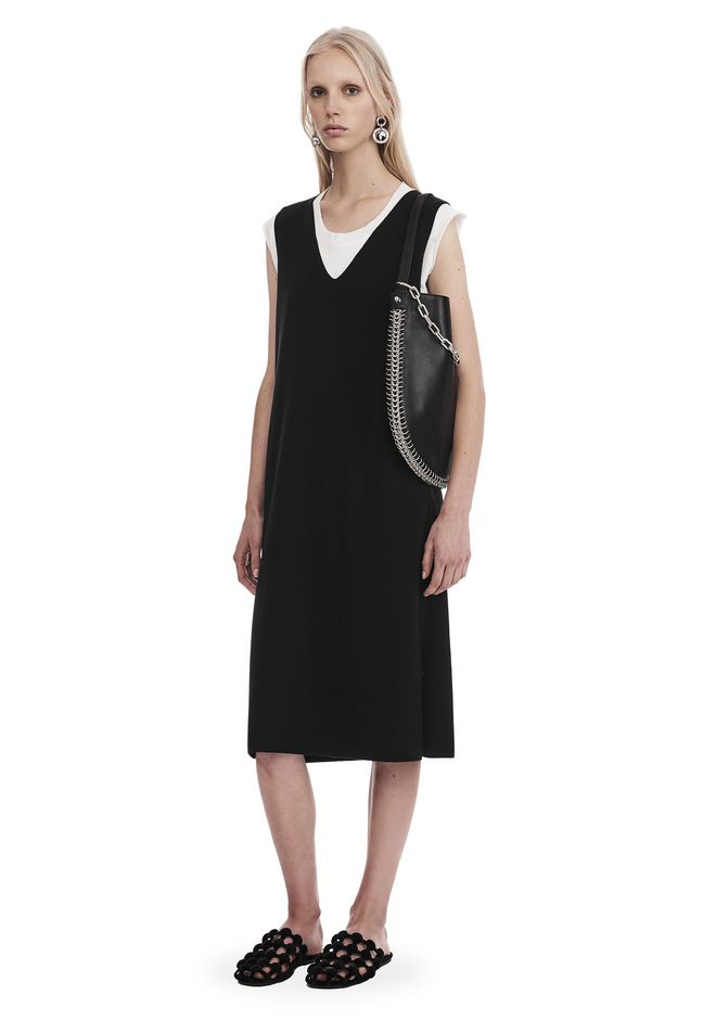 T by ALEXANDER WANG Short Dresses Women SLEEVELESS V-NECK DRESS