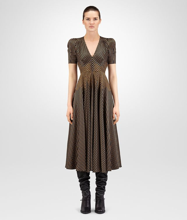 BOTTEGA VENETA NERO VISCOSE DRESS Dress Woman fp