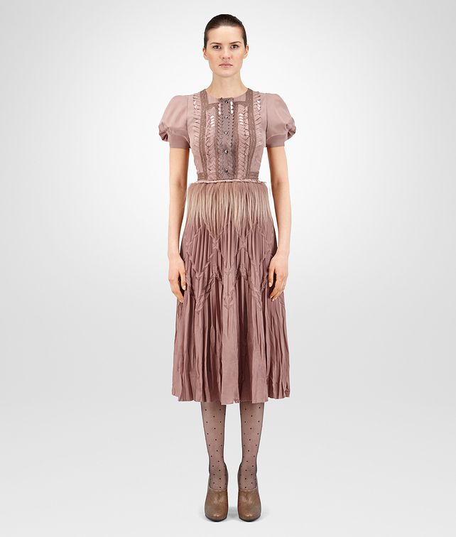 BOTTEGA VENETA DESERT ROSE CRÊPE DE CHINE DRESS Dress Woman fp