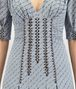 BOTTEGA VENETA ICE BLUE GEORGETTE JACQUARD DRESS Dress D ap