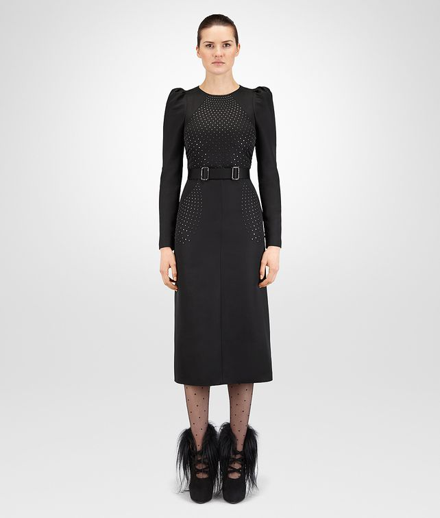 BOTTEGA VENETA NERO WOOL DRESS Dress Woman fp